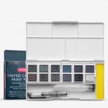 Derwent : Inktense Paint Pan : Tinted Charcoal Set of 12