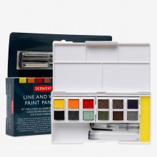 Derwent : Inktense Paint Pan : Line and Wash Set of 12