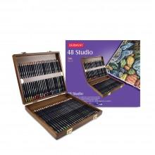 Derwent Studio Bleistift 48 Holz BOX-SET