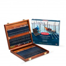 Derwent Aquarell Bleistifte: 48 HOLZBOX SET