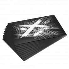 Essdee Scraperboard Schwarz beschichtet weiß: 152x101mm-Packung mit 10 Blatt