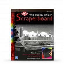 Essdee Scraperboard Schwarz beschichtet weiß: 610x502mm-Packung mit 10 Blatt