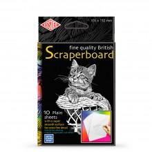 Essdee Scraperboard White: 152x101mm Packung mit 10 Blatt