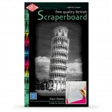 Essdee Scraperboard White: 502x305mm Packung mit 10 Blatt