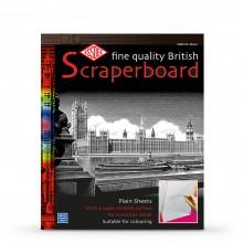 Essdee Scraperboard White: 610x502mm Packung mit 10 Blatt