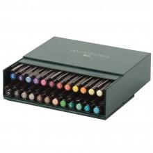 Faber Castell : Pitt Artists Brush Pen Gift Box : Set of 24 Assorted Colours