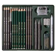 Faber Castell : Pitt Graphite Set : Metal Tin Set of 19