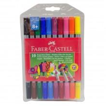 Faber-Castell: Zweiseitig gesockelte Filzstift Stifte: 10er Pack