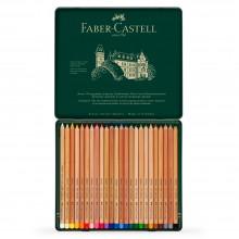 Faber Castell: Pitt Pastell Bleistift SET von 24 in Metall-Dose