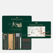 Faber Castell : Pitt : Monochrome : Metal Tin Set of 33