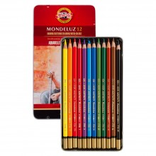 Koh-I-Noor: Mondeluz Set von 12 Aquarell Coloured Pencils 3722