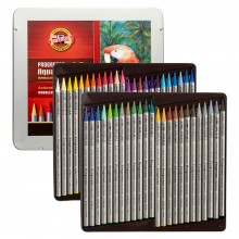 Koh-I-Noor : Progresso : Woodless Watercolour Pencils : Tin Set of 48