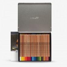 Lyra Rembrandt Polycolor farbiger Bleistift Set: Metall-Box 24 Stück