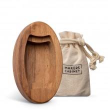 Makers Cabinet : Dunkler Walnuß-Sockel : Für Messing-Hovel Spitzgerät
