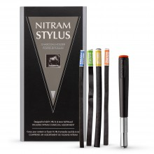Nitram : Stylus Charcoal Holder : Includes 5 Charcoal Sticks