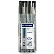 Staedtler: Pack 4 Pigment Liner-Stifte