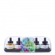 Royal Talens : Ecoline : Liquid Watercolour Ink : 30ml : Primary Set of 5