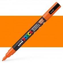 : Uni Posca Marker Orange 0,9 bis 1,3 mm feine Kugel-Stiftspitzen