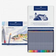 Faber Castell : Goldfaber Aqua : Watercolour Pencil : Metal Tin Set of 24
