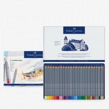 Faber Castell : Goldfaber Aqua : Watercolour Pencil : Metal Tin Set of 36