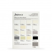 Studio Essentials : White Core Mount Board : 13 Swatch Colour Chart
