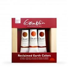 Gamblin : Artist Oil Paint : 37ml : Reclaimed Earth Colours : Set of 3