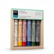 R & F 38ml Pigment-Stick SET: undurchsichtige Farbe festlegen (6 Farben)