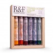 R & F 38ml Pigment-Stick SET: transluzent-Farbpalette (6 Farben)