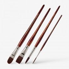 Pro Arte : Acrylix Synthetic Oil/Acrylic Brushes : Short Handles : 202 / 203 / 204 / 205