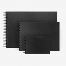 Seawhite : Black Card Sketchbooks : Wide Spiral Pad : 40 Sheets