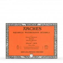 Bögen Aquarelle Block: 14 x 10 in Rough - 20er-Jahre - verklebt 4 Seiten