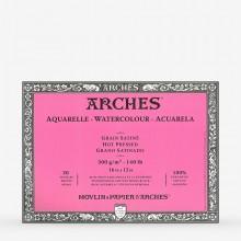Bögen Aquarelle Block: 16 x 12 in Hot Press - 20er-Jahre - verklebt 4 Seiten