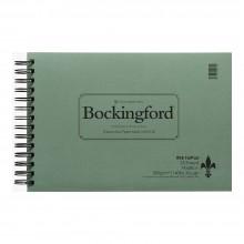 Bockingford: Spirale Fat Pad 7.5X11in ROUGH: 25 s: 140lb (300gsm): Draht gebunden breitseits - 25 s
