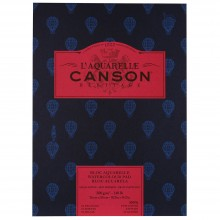Canson : Heritage : Watercolour Paper Pad : 300gsm : 26x36cm : 12 Sheets : Hot Pressed