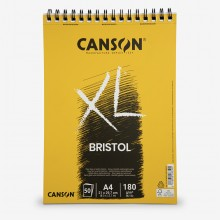 Canson : XL : Bristol : Glued Pad : 180gsm : 50 Sheets : A4