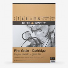 Daler-Rowney: A3: 160gsm Fine Grain Zeichnung Cartridge Pad - 30 Blatt