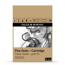 Daler-Rowney: A5: 160gsm Fine Grain Zeichnung Cartridge Pad - 30 Blatt