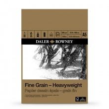 Daler-Rowney: A5: feine Körnung Heavyweight Paper Pad - 200gsm - 30 Blatt