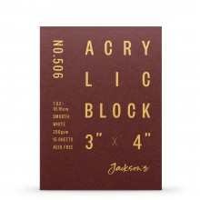 Jackson's : Acrylic Paper : Block : 290gsm : 15 Sheets  : 3x4in