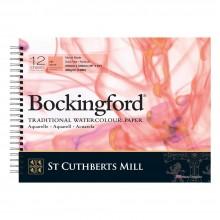Bockingford Pad: SPIRAL-: 12x16in: 140lb (300gsm) Hot Press: 12 s