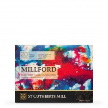St Cuthberts Mill : Millford : Watercolour Paper Block : 300gsm : 9x12in : 20 Sheets : Cold Pressed