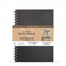 Stillman & Birn : Nova : Wirebound Mixed Media Sketchbook : 150gsm : 7x10in (17.8x25.4cm) : Beige