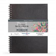 Stillman & Birn : Nova : Wirebound Mixed Media Sketchbook : 150gsm : 9x12in (22.9x30.5cm) : Grey