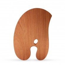 Zecchi : Hand Crafted Balanced Wooden Palette : Left Handed