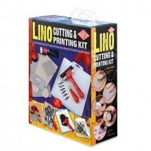 Essdee: Lino schneiden Druckgrafik festgelegt: 22 Stück