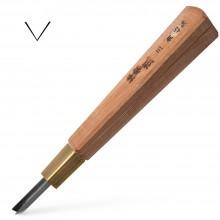Sankaku To : Japanese Woodcut Knife : V Gouge : 4.5mm