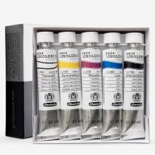 Schmincke Aqua Linoprint Karton legen 5x20ml Rohre