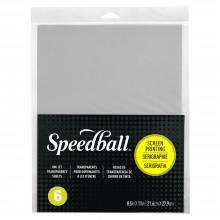 Speedball : Screen Printing Ink Jet Transparency Sheet : 21.6x27.9cm (8.5x11in) : Pack of 6