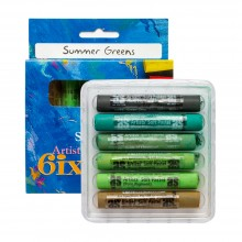 Art Spectrum : Soft Pastel : Set of 6 : Summer Greens
