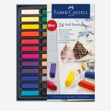 Faber Castell: Square Soft Pastel halbe Sticks: Kiste mit 24 verschiedenen Farben